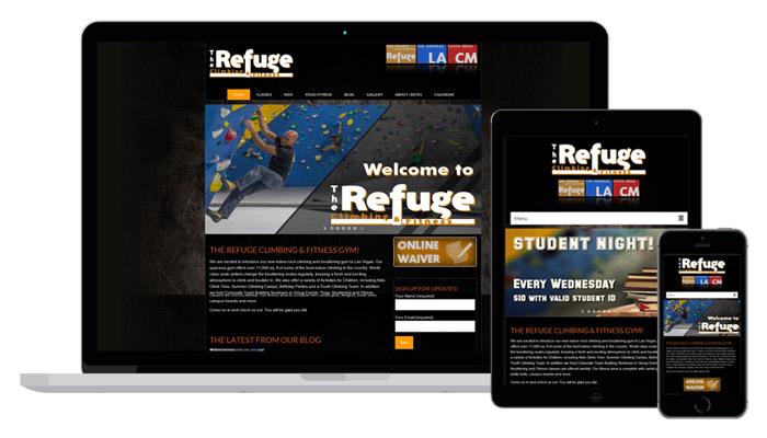 Refuge Climbing&Fitness gym / Responsive theme in Wordpress