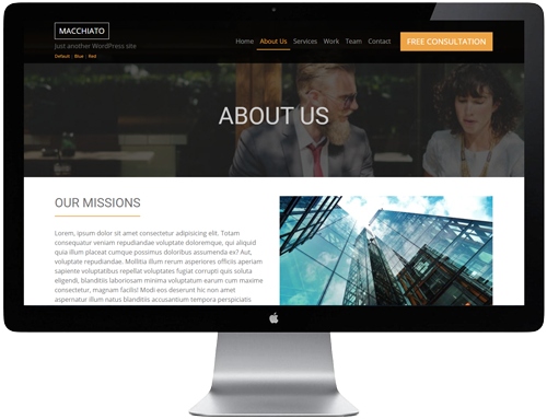 Macchiato HTML Template - About Us