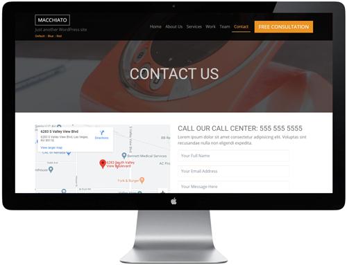Macchiato HTML Template - Contact Us
