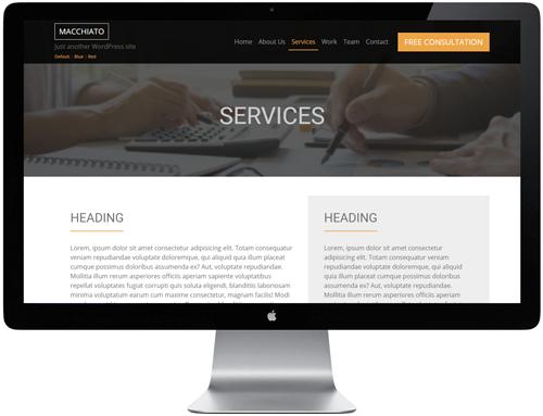 Macchiato HTML Template - Service