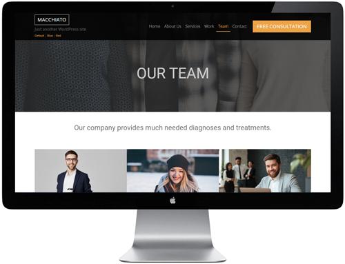 Macchiato HTML Template - Team