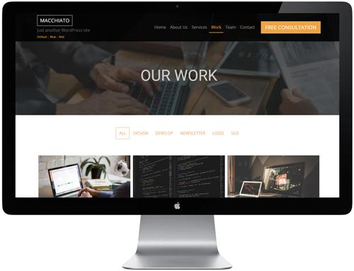 Macchiato HTML Template - Our WOrk