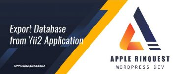 export-database-from-yii2-application