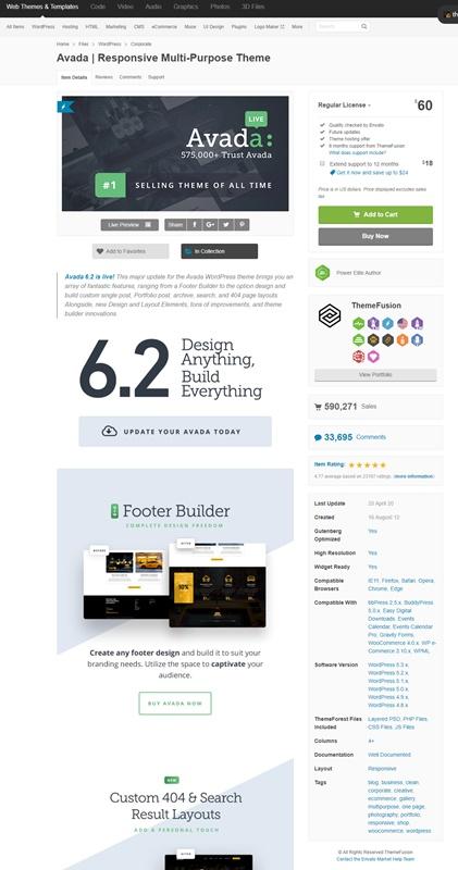 Avada WordPress theme - Envato Market
