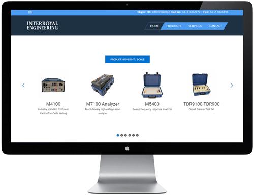 interroyal engineering - WordPress website project