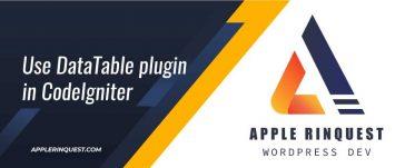 use-datatable-plugin-in-codeigniter