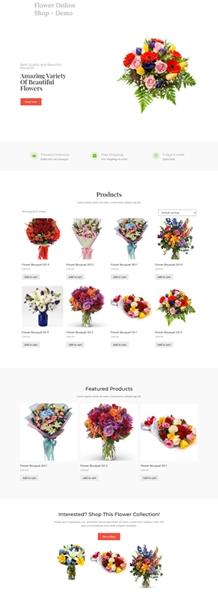 flower shop set theme style
