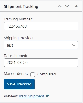 update shipping tracking 1