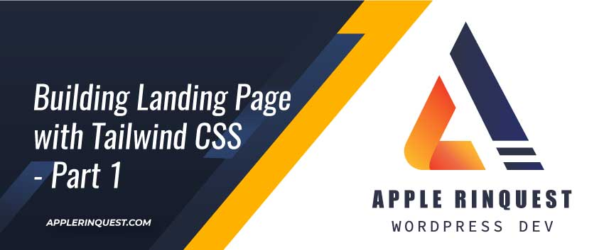 building landing page with tailwind CSS - part 1